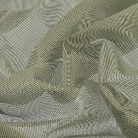 Bercy - Grey Silver (4) - Fabric made from polyester and silk with a net-like effect in a colour that