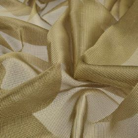 Bercy - Beige (5) - Light gold coloured polyester and silk blend fabric made with a very fine net-like finish