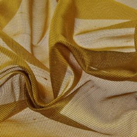 Bercy 310cm - Gold - Fabric made with a fine net-like effect from a rich bronze coloured blend of polyester and silk
