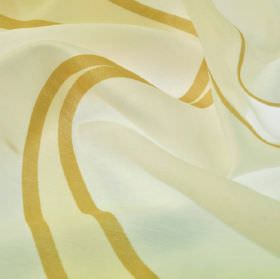 Vigolo - Cream Yellow Gold (2) - Fabric made from cream coloured polyester and viscose, with a simple striped design in a rich gold colour