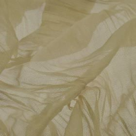 Barde - Beige (2) - Fabric made from very thin 100% polyester in a plain barley colour
