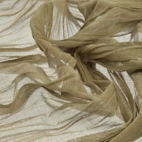 Barde 285cm - Brown - Plain hessian coloured, very thin fabric made from 100% polyester