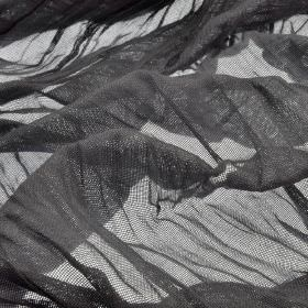 Barde - Grey (4) - Very thin 100% polyester fabric made in a flat shade of graphite grey
