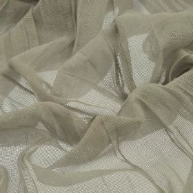 Barde - Grey Green (5) - Stone coloured fabric made from very thin 100% polyester