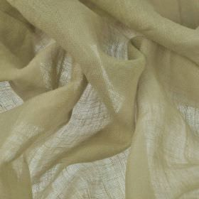 Linne - Beige (1) - Very thin, almost translucent, cream-grey coloured 100% linen fabric