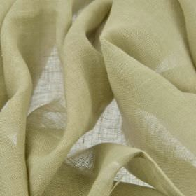 Linne - Cream (3) - Fabric made from 100% linen in a plain, very light shade of cream-beige