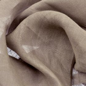 Linne - Purple (5) - 100% linen fabric made in a plain colour that's a blend of grey and pale lilac