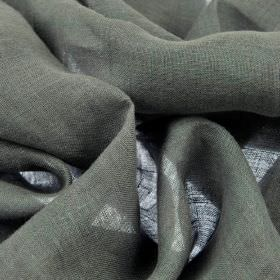 Linne - Grey (6) - Fabric made from plain iron grey coloured 100% linen