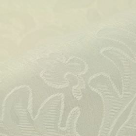 Dorado - White (1) - Very subtly patterned fabric made from an ivory coloured blend of linen and polyester