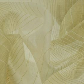 Vasa - Beige - Very thin cream and beige coloured linen and polyester blend fabric featuring a design of stripes which widen and narrow