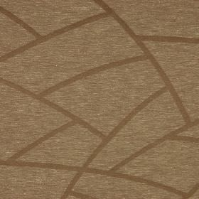 Greve - Beige - Curved light brown lines printed over a flecked brown and cream coloured linen and polyester blend fabric background