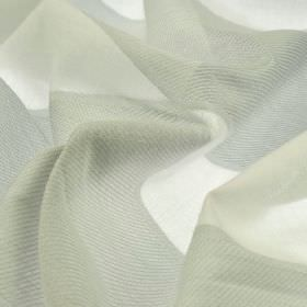 Borre CS - Grey White (2) - Wide bands of light grey and white creating a simple striped design on fabric made from 100% Trevira CS