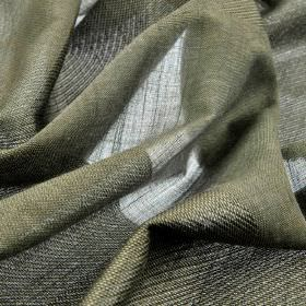 Borre CS 308cm - Grey - Translucent and opaque stripes, both in dark shades of grey, running across 100% Trevira CS fabric