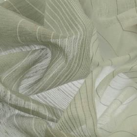 Vasa - White Grey - Widening and narrowing stripes patterning linen and polyester blend fabric in two different light shades of grey