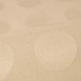 Marstal - Cream (1) - Almost imperceptible slightly patterned dots arranged in neat rows over nude coloured 100% Trevira CS fabric