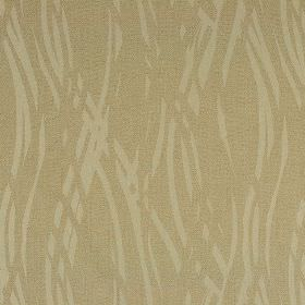 Hobro - Beige (1) - Barley and light beige coloured overlapping wavy lines in a stylish pattern on fabric made from several materials