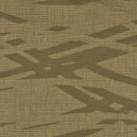 Hobro - Brown3 - Cotton, polyester and viscose blend fabric made in dark and creamy shades of brown, with broken wavy overlapping lines