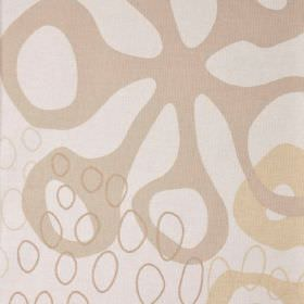 Apium - Beige Brown - Several beige, nude and cream shades making up a cotton and polyester blend fabric with a stylised floral and pebble patte