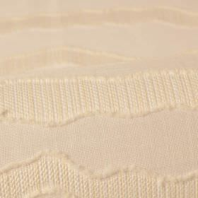 Tonder CS 302cm - White - Slightly textured uneven lines running across warm cream coloured 100% Trevira CS fabric