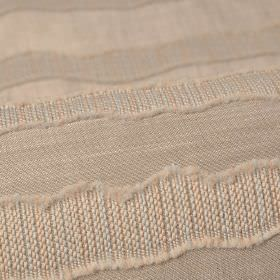 Tonder CS - Beige (4) - Fabric made from a combination of cream and light brown coloured 100% Trevira CS, with a textured uneven stripe patt