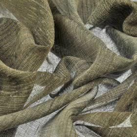 Vasa - Grey2 - Dark grey and light cream coloured threads woven into a fabric made from a combination of linen and polyester