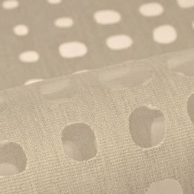 Skave - Grey (6) - Fabric made from cotton, polyester and viscose in light grey, with a translucent, irregular shaped dot pattern