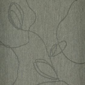 Viborg - Grey (1) - Random, irregular dark grey lines scrawled across a dove grey coloured polyester and viscose blend fabric background