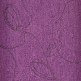 Viborg 305cm - Purple - Vibrant fabric made from fuschia coloured polyester and viscose, printed with irregular, scrawling grey lines