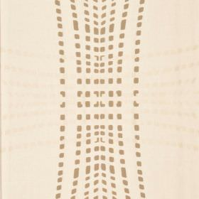 Infra - Cream Brown (3) - Cream coloured cotton and viscose blend fabric patterned with curving, overlapping lines created by cream and brown