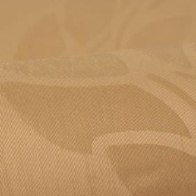 Optica - Brown (2) - Subtly patterned bronze coloured fabric made from 100% polyester