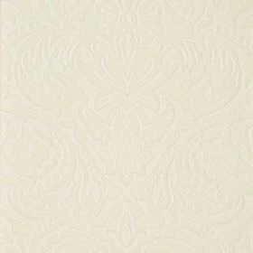 Vertino - White (68) - Ivory coloured fabric made from very subtly patterned 100% polyester