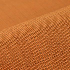 Denver - Orange Brown (4) - Orange and brown-grey coloured 100% Trevira CS threads woven together into an otherwise unpatterned fabric