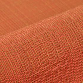 Denver - Red Orange - Fabric woven from fiery orange-red and caramel coloured 100% Trevira CS