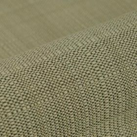 Denver - Grey Beige - 100% Trevira CS fabric woven from threads in pale green-grey and very dark grey colours