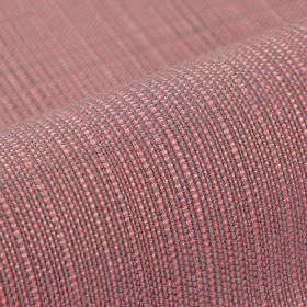 Denver - Purple Pink - Fabric woven from 100% Trevira CS threads in strawberry pink and iron grey colours