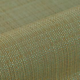 Denver - Brown Blue - 100% Trevira CS fabric woven from threads in mint and khaki shades of green