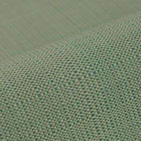 Denver - Blue Green - Threads in light grey, mint green and dark teal woven together into a 100% Trevira CS fabric