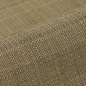 Denver - Brown (23) - Fabric woven from 100% Trevira CS in light cream and dark brown colours