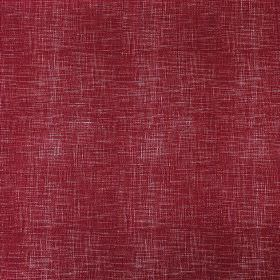 Weave - Brick - Linen, cotton and nylon blend fabric made in maroon, behind thin, subtle, white horizontal and vertical streaks