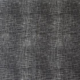 Weave - Charcoal - Charcoal coloured linen, cotton and nylon blend fabric featuring horizontal and vertical streaks in pale grey