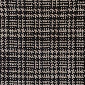 Tartan - Aberdeen - Black cotton fabric which has been woven with grey to create a regular, repeated pattern