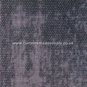Jarapa - 14 - Indigo coloured linen-jute-cotton blend fabric which is partly flat and partly covered by a bouclé texture