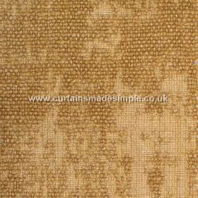 Jarapa - 05 - Gold coloured fabric blended from linen, jute and cotton, with a partial bouclé effect