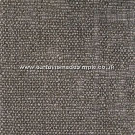 Jarapa - 09 - Linen-jute-cotton blend fabric with a partial bouclé texture in a dark grey colour