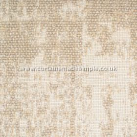 Jarapa - 17 - Wheat coloured, partially textured fabric blended from linen, jute and cotton, which has a bouclé finish