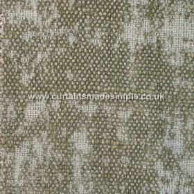 Jarapa - 13 - Fabric covered with a partial bouclé effect made from a mixture of linen, jute and cotton in a grey-green colour