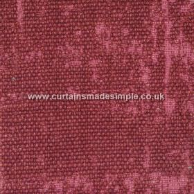 Jarapa - 02 - Bouclé textures partially covering a scarlet coloured linen, jute and cotton blend fabric