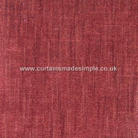 Terracota - 02 - Cotton and polyester blend fabric with a patchy scarlet coloured finish