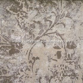 Reef - 06 - Fabric made from viscose with a patchy, mottled floral type design in various shades of beige, stone and grey