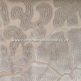 Aquarium - 09 - Light mocha coloured fabric made from viscose, patterned with concentric bands of silver and grey